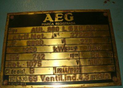 Alternador AC 1950KW 5KV Bombinat