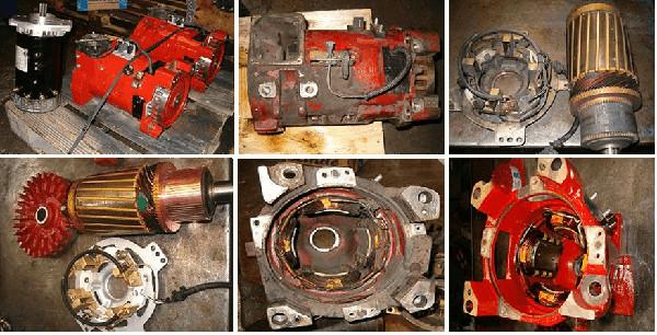 Motor de carretilla elevadora DC